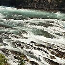 Treacherous Waters, Banff Springs Rapids by Roger Bernabo