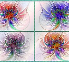 Espiral Dreams Collage Card by wolfepaw