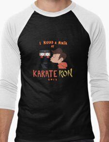 I Kissed a Ninja at KarateKon Men's Baseball ¾ T-Shirt