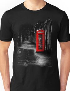 London Calling - Red British Telephone Box Unisex T-Shirt