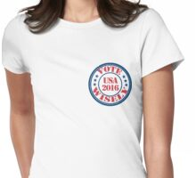 vote wisely small Womens Fitted T-Shirt