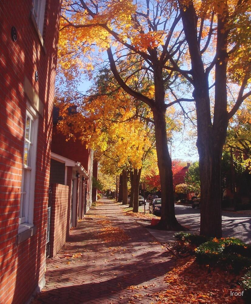 Autumn Sidewalk by lroof