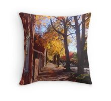 Autumn Sidewalk Throw Pillow