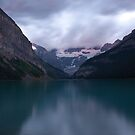 Dawn at Lake Louise by Roger Bernabo