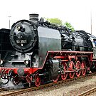German class 50 steam locomotive, Franconia, Germany. 2010 by David A. L. Davies