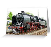 German class 50 steam locomotive, Franconia, Germany. 2010 Greeting Card