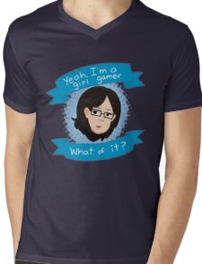 Yeah I'm a Girl Gamer Mens V-Neck T-Shirt