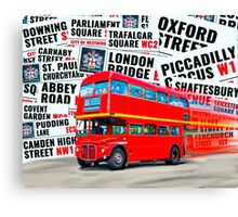 Classic Red London Double decker Routemaster Bus Canvas Print