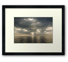 shadows and rays Framed Print