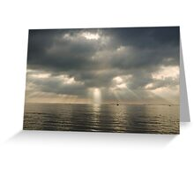 shadows and rays Greeting Card
