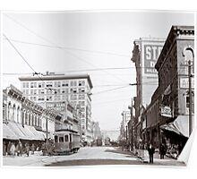 Vintage Downtown Birmingham Alabama Poster