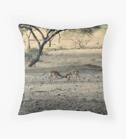 serengeti clash Throw Pillow