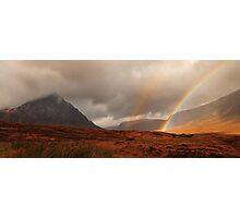 Glen Coe rainbow Photographic Print