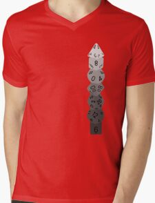 Dice Tower-Greyscale Mens V-Neck T-Shirt