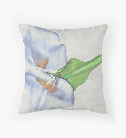 Precious Lily Throw Pillow
