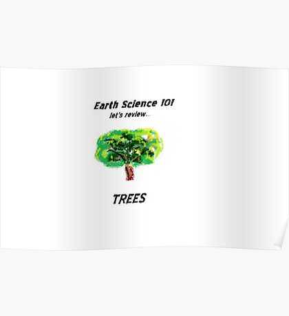 Earth Science 101...Trees Poster