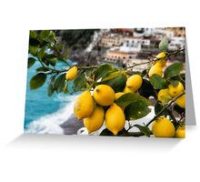 Amalfi Coast Lemon Tree  Greeting Card