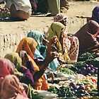 Market Day - New Delhi by Laoghaire