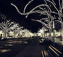 City Lights - Unter den Linden  by Bluemeaway