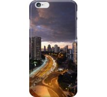 A Storm Approaching Surfers Paradise, Queensland,Australia. iPhone Case/Skin
