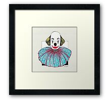 Framed Clown Framed Print
