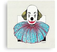 Framed Clown Canvas Print