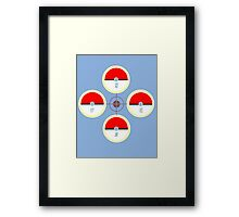 Pokeball Compass Framed Print