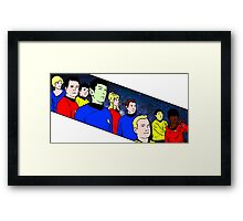 Star Trek TOS crew Framed Print