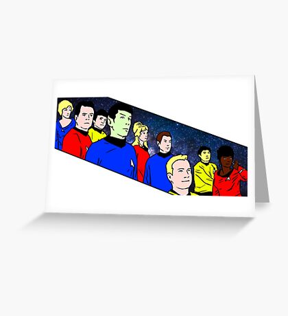 Star Trek TOS crew Greeting Card
