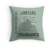 Montana Peak Bagger Throw Pillow