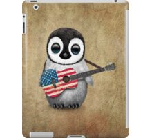 Baby Penguin Playing American Flag Guitar iPad Case/Skin