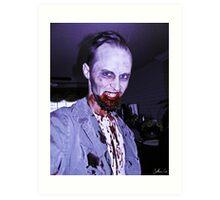 Smile, Mr. Zombie Art Print