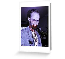 Smile, Mr. Zombie Greeting Card