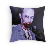 Smile, Mr. Zombie Throw Pillow