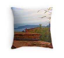 Mediterranean Sea, from Grasse, France Throw Pillow