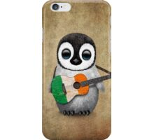 Baby Penguin Playing Irish Flag Guitar iPhone Case/Skin