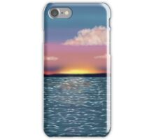 Tranquil Ocean Sunset Print iPhone Case/Skin