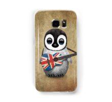 Baby Penguin Playing British Flag Guitar Samsung Galaxy Case/Skin