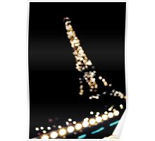 Eiffel Tower Lights at Night Poster