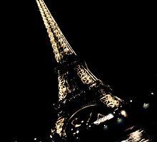 Eiffel Tower Diagonal at Night by damokeen