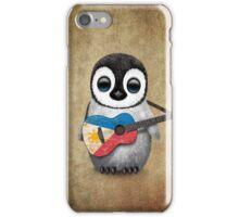 Baby Penguin Playing Filipino Flag Guitar iPhone Case/Skin