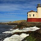 Coquille River Lighthouse At Bandon by James Eddy