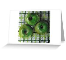 Ode to Granny Smith 3 apples Greeting Card