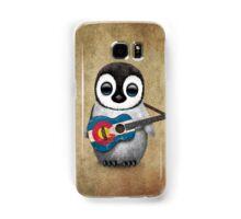 Baby Penguin Playing Colorado Flag Guitar Samsung Galaxy Case/Skin