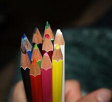Water Coloured pencils by Cassie Jahn