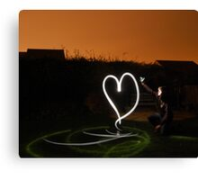 i ♥ light painting Canvas Print