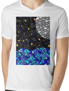 Moonlit Sea Mens V-Neck T-Shirt