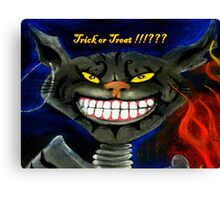 Trick Or Treat !!!??? Canvas Print