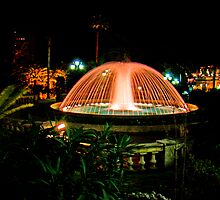 Fountain At Monte Carlo by Al Bourassa