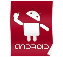 Android Eat Apple Poster